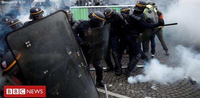 France fuel protests: Police in Paris fireplace tear gas