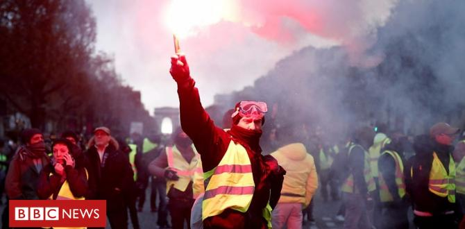 France fuel protests: Tear fuel and water cannon fired by means of police