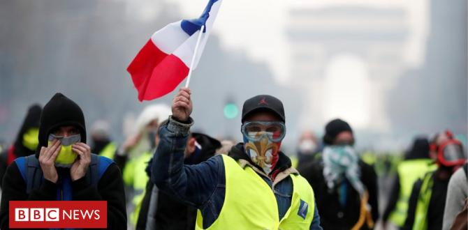 France gasoline protests: Macron drives beforehand amid unrest