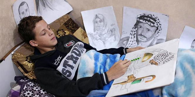 Israeli squaddies wounded a Palestinian boy was once discharged artist