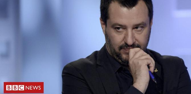 Italian deputy PM Salvini confronted over girls' picture