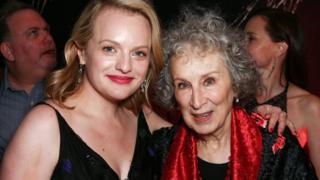 Elisabeth Moss with Margaret Atwood