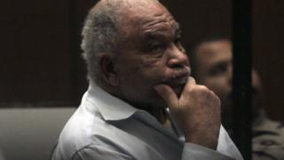 Photograph of Samuel Little in trial in August 2014
