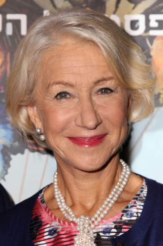 We love Helen Mirren 's natural tousled bob. A slightly longer fringe is perfect for adding volume and texture.
