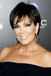 """<center>Kim Kardashian 's mum, Kris Jenner, adds a feathered fringe to her jet-black crop that 's anti-ageing and sophisticated."""" /> FIFTY THREE/85 </p> <h2>Kim Kardashian 's mum, Kris Jenner, provides a feathered fringe to her jet-black crop that 's anti-getting old and sophisticated.</h2> </p> <p> <img width="""