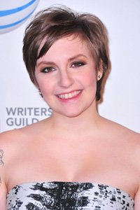 American actress, Lena Dunham opts for a choppy crop with shorter layers through the top sections to give her hair lift and height through the crown.