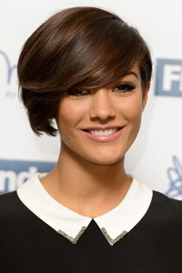 """<center>We love Frankie from The Saturday 's bouncy full bodied crop. The side parting and root boost makes it look grown-up and glossy."""" /> 66/EIGHTY FIVE </p> <h2>We Like Frankie from The Saturday 's bouncy full bodied crop. The side parting and root spice up makes it look grown-up and shiny.</h2> </p> <p> <img width="""