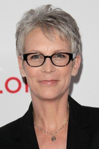 Jamie Lee Curtis chooses short sharp layers to ensure her crop sits close to her head while her different tones of grey add depth and dimension to the cut.