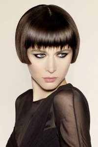 Glossy cheekbone skimming crop by Hooker and Young