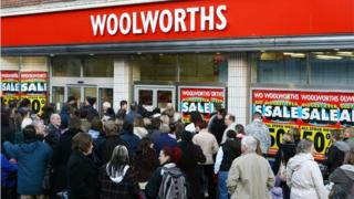 Woolworths and crowds