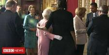Whilst Michelle Obama hugged the Queen