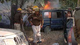Arrests over India policeman killed via 'cow slaughter' mob