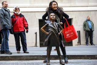 Fearless Lady statue gets new spot outdoor NY Stock Change