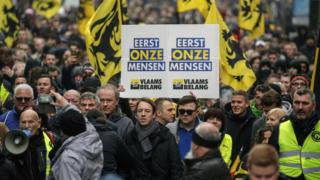Hundreds protest in Brussels over UN migration pact