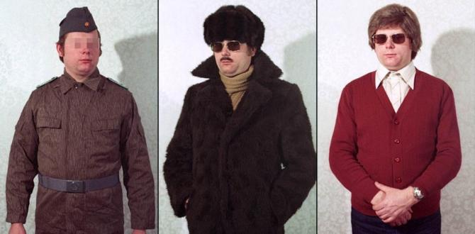 In footage: Mystery disguises of the Stasi