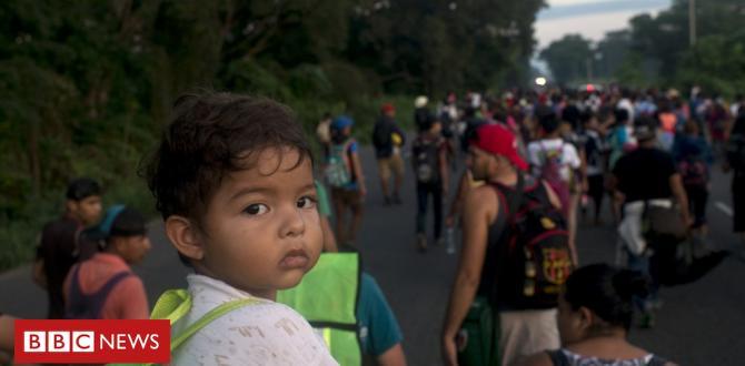 Migrant caravan in photos: A river of individuals moving north