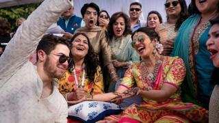 Priyanka Chopra during wedding celebrations on 29 November 2018