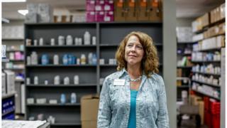 Portrait of Rhonda Francis in the pharmacy