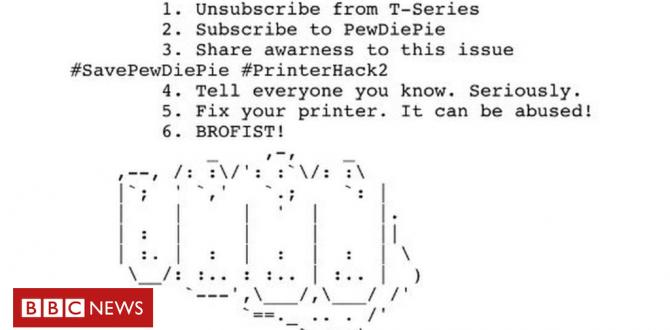 PewDiePie printer hackers strike again