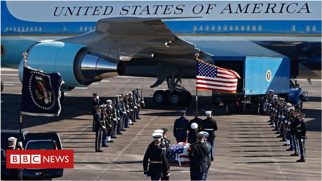 President George HW Bush's ultimate journey to Washington DC
