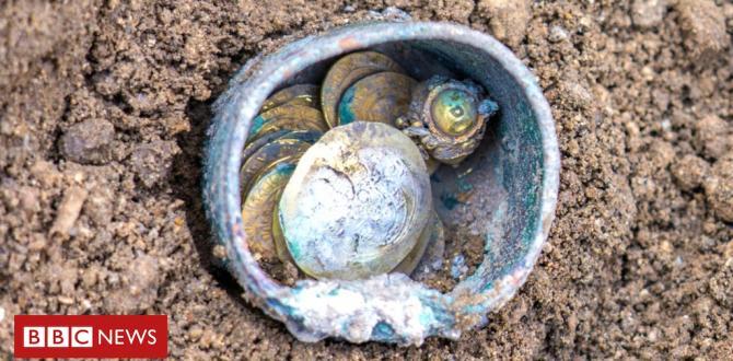 Rare gold cash present in Israeli town of Caesarea